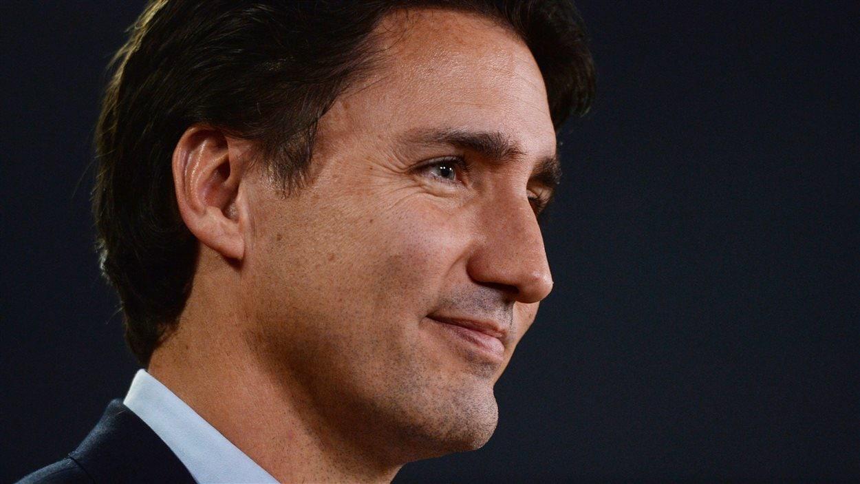 Justin Trudeau s'est adressé aux médias au Théâtre national de la presse à Ottawa.