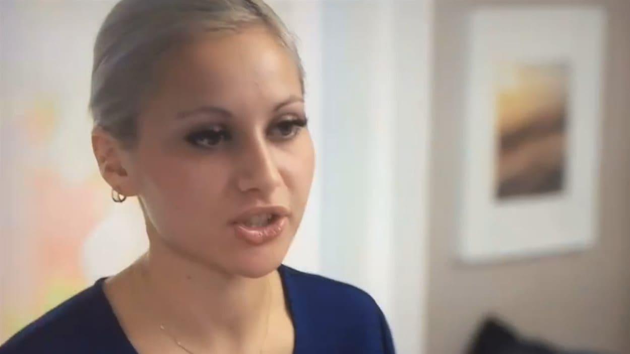 Anne-Marie Hamel, lors de l'émission Un souper presque parfait, diffusée lundi.