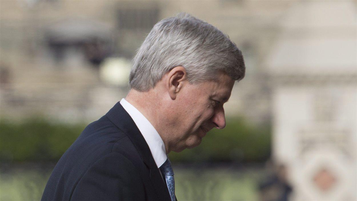 Le premier ministre sortant Stephen Harper