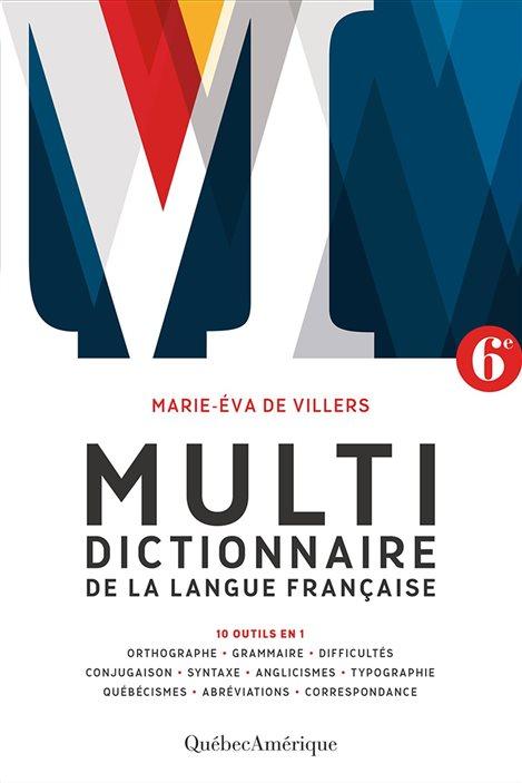 La couverture du Multidictionnaire de la langue française (6e édition)