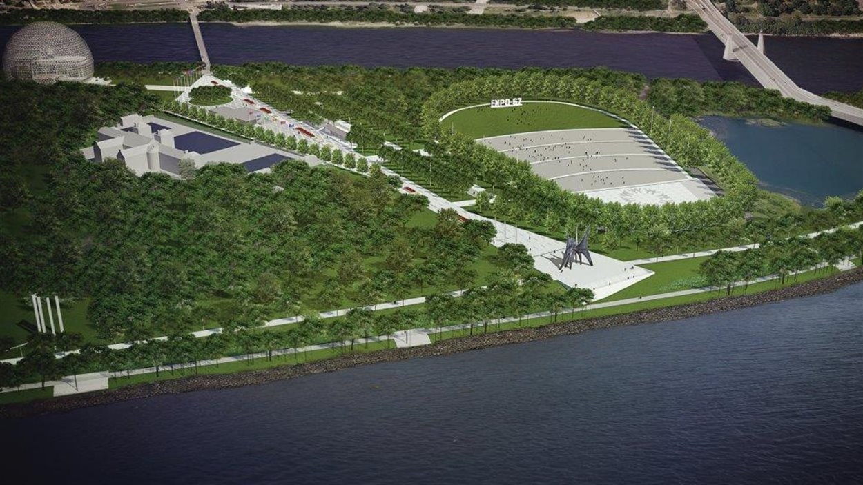 Vue d'ensemble du projet du parc Jean-Drapeau