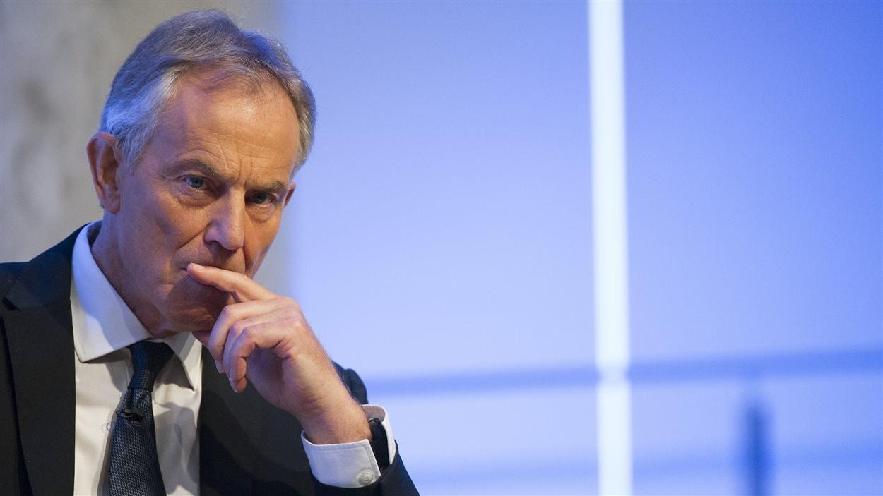 Tony Blair, lors d'une apparition au 9/11 Memorial Museum (6 octobre 2015)