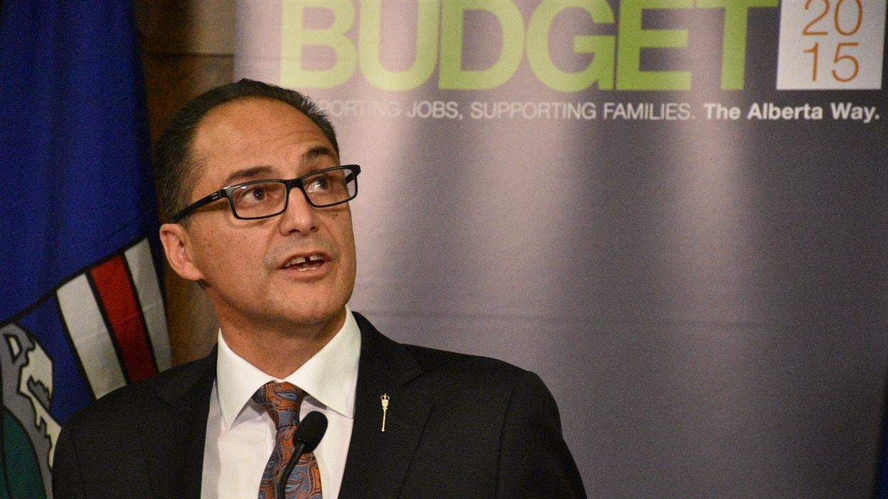 Le ministre des Finances de l'Alberta Joe Ceci