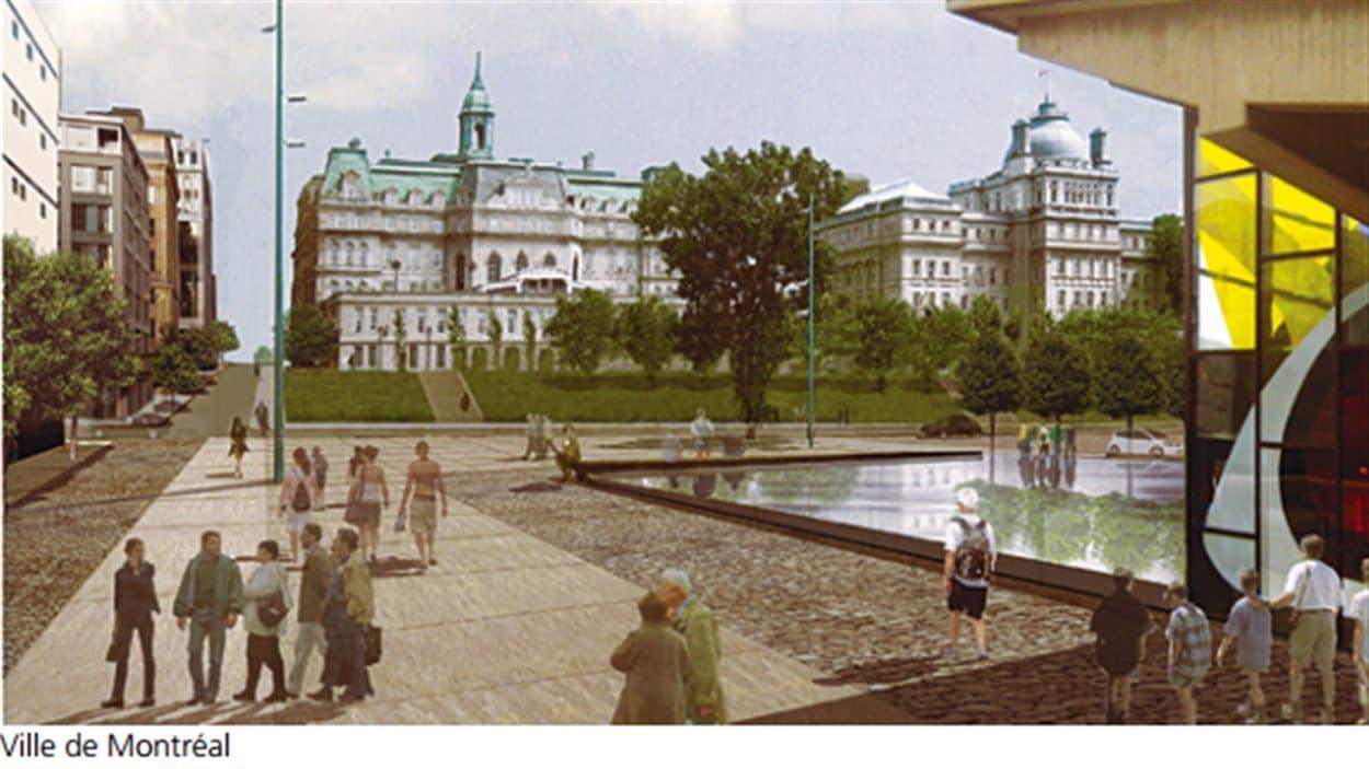 Image tirée d'un document sur le projet de recouvrement de l'autoroute Ville-Marie.