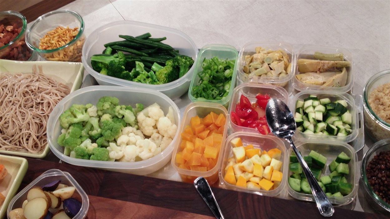 Les salades en pot