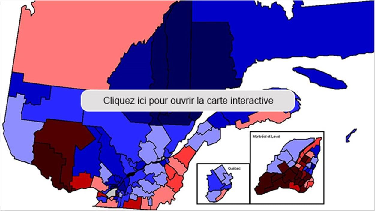Carte interactive des résultats du référendum de 1995