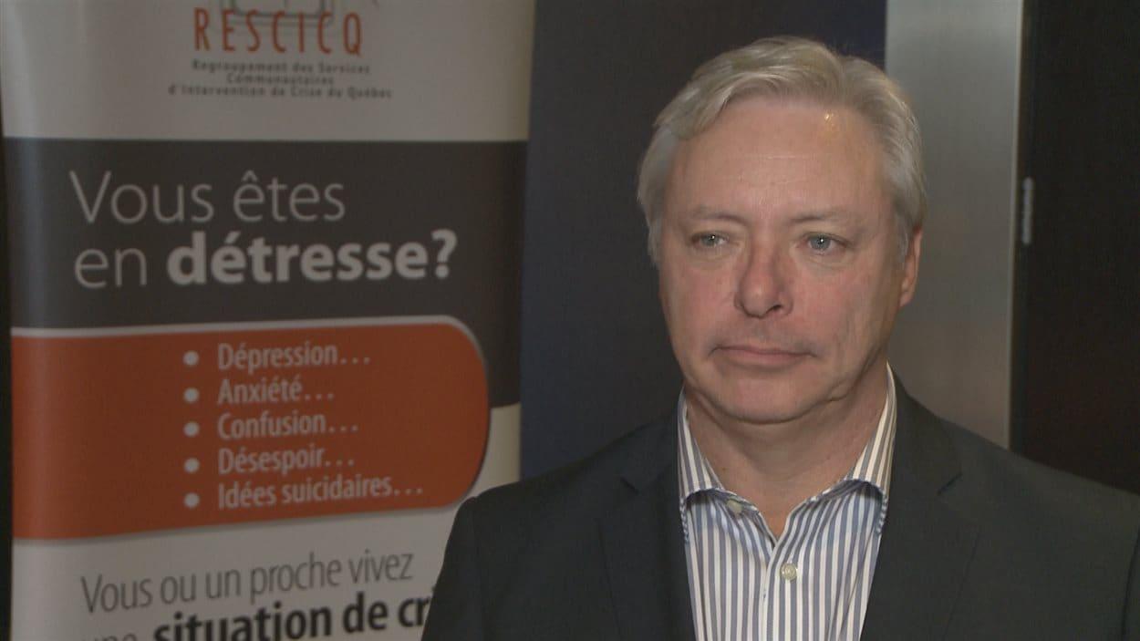 Le président du Regroupement des services d'intervention de crise du Québec, Robert Dubuc