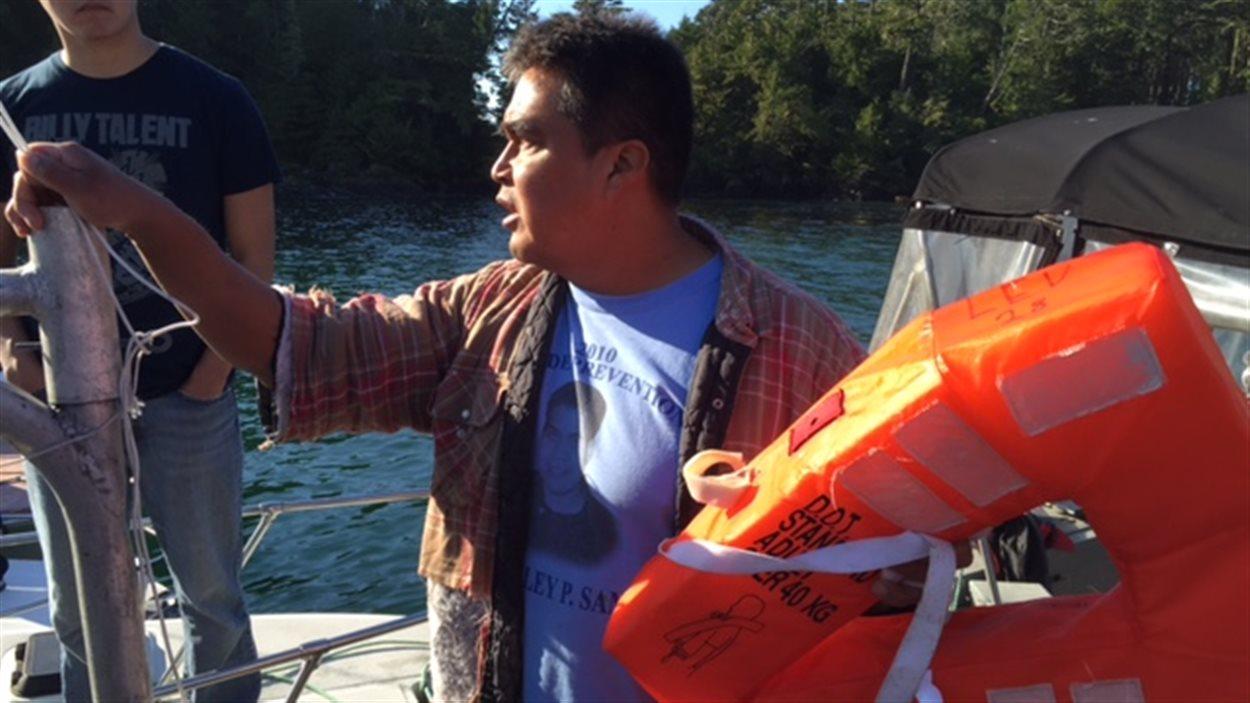 Clarence Smith, pêcheur Ahousaht, était le premier sur les lieux du naufrage
