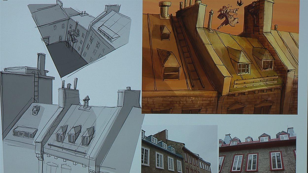 Des bâtiments réels inspirent les dessinateurs