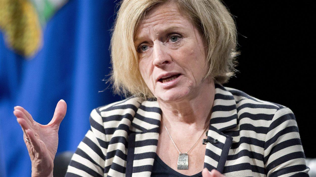 La première ministre albertaine, Rachel Notley.