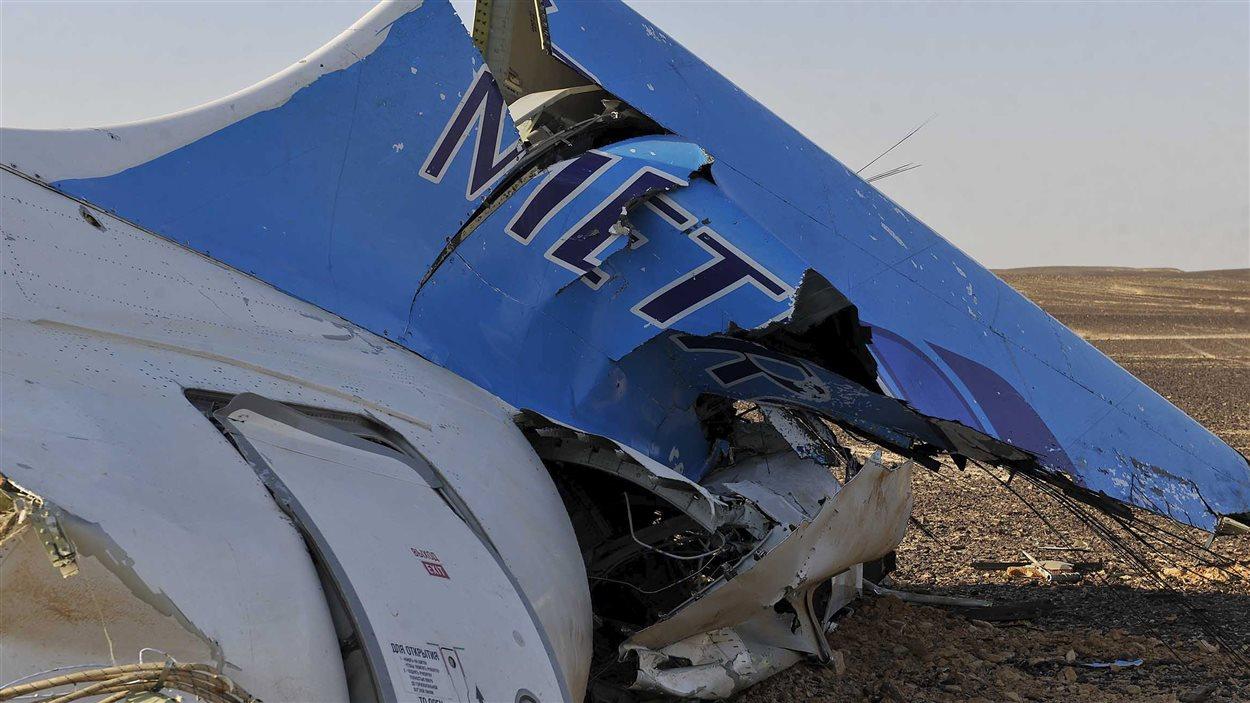 Les décombres de l'Airbus A321 qui s'est écrasé dans le Sinaï, le 31 octobre 2015