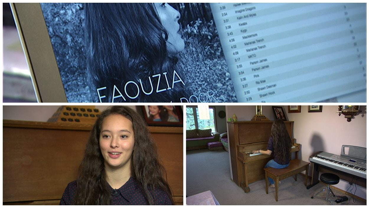 Faouzia, une jeune chanteuse de Carman, au sud du Manitoba.
