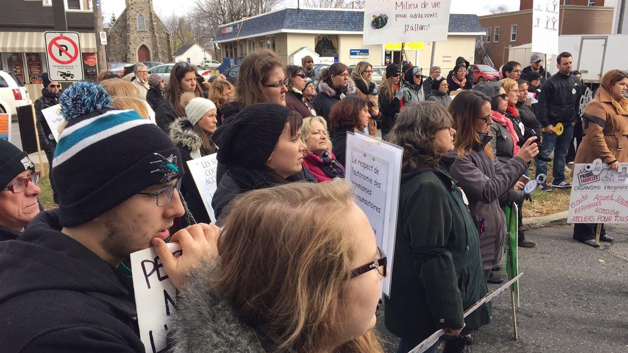Des organismes drummondvillois ont aussi pris part au mouvement de grève.