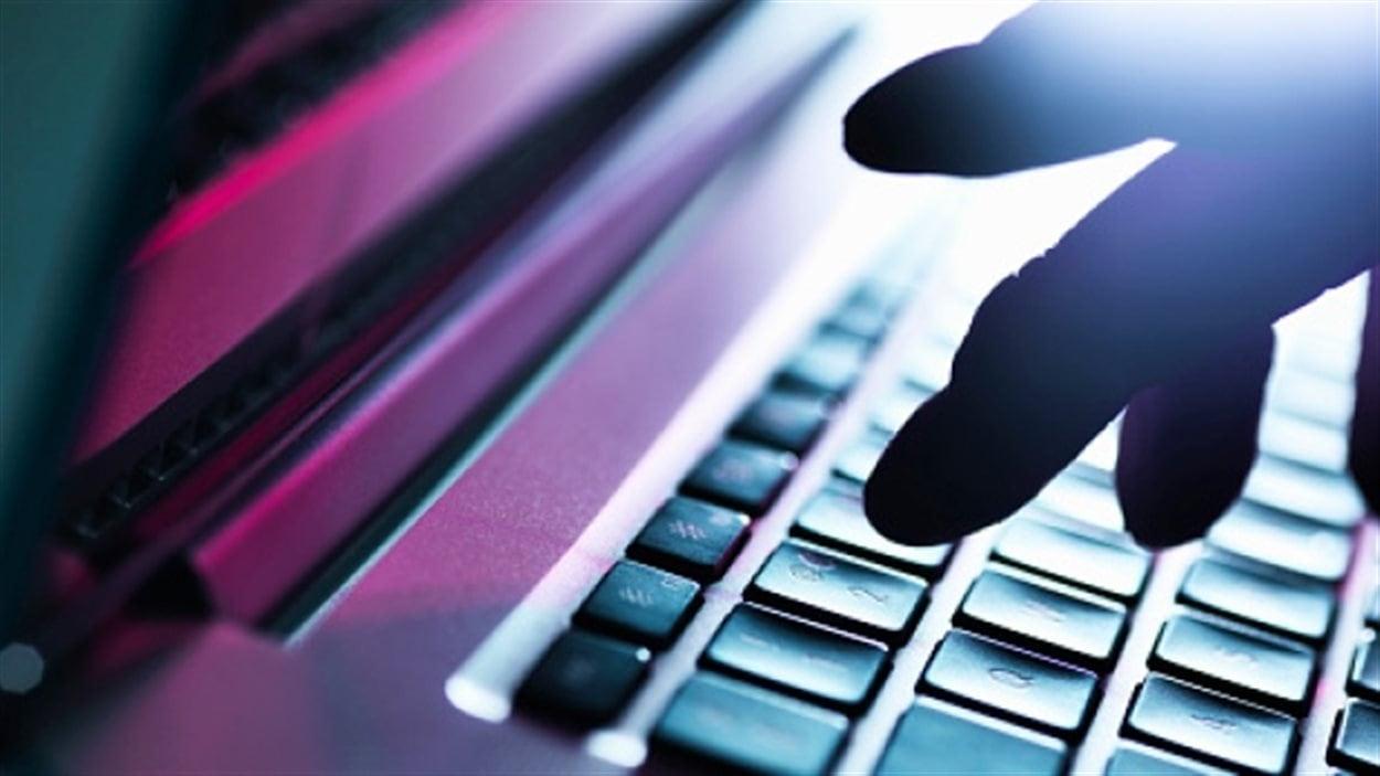 Les touches du clavier d'un ordinateur.