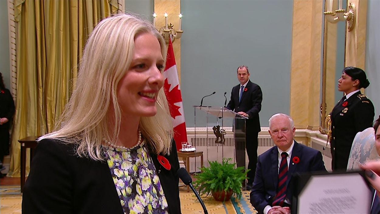 Catherine McKenna, ministre de l'environnement et du changement climatique