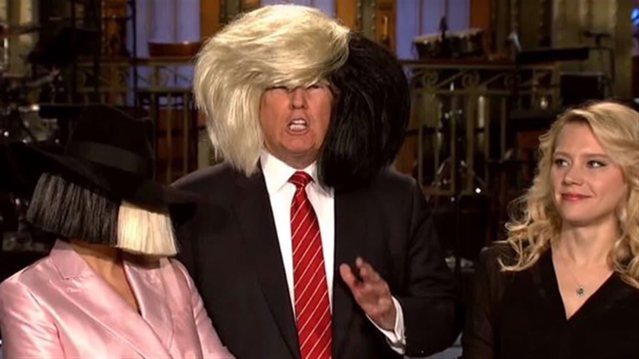 Donald Trump à l'animation de Saturday Night Live, le 7 novembre 2015