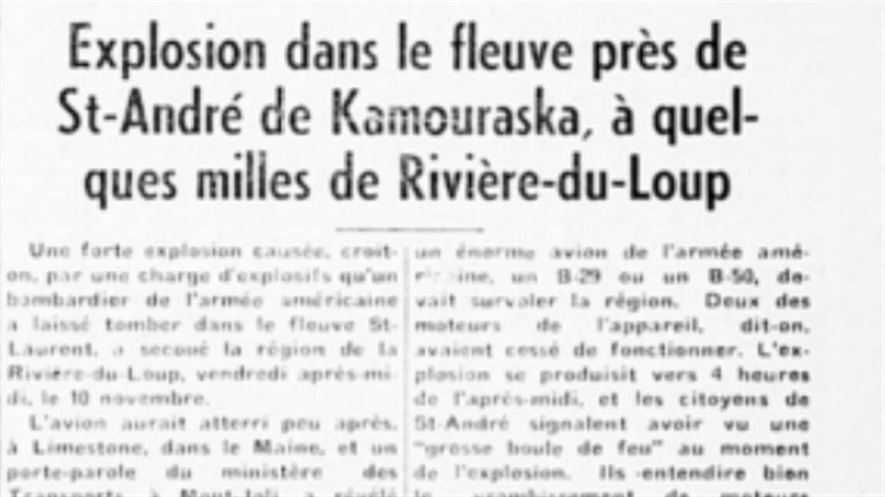 Extrait de l'hebdomadaire rimouskois «Le Progrès du Golfe» du 17 novembre 1950.