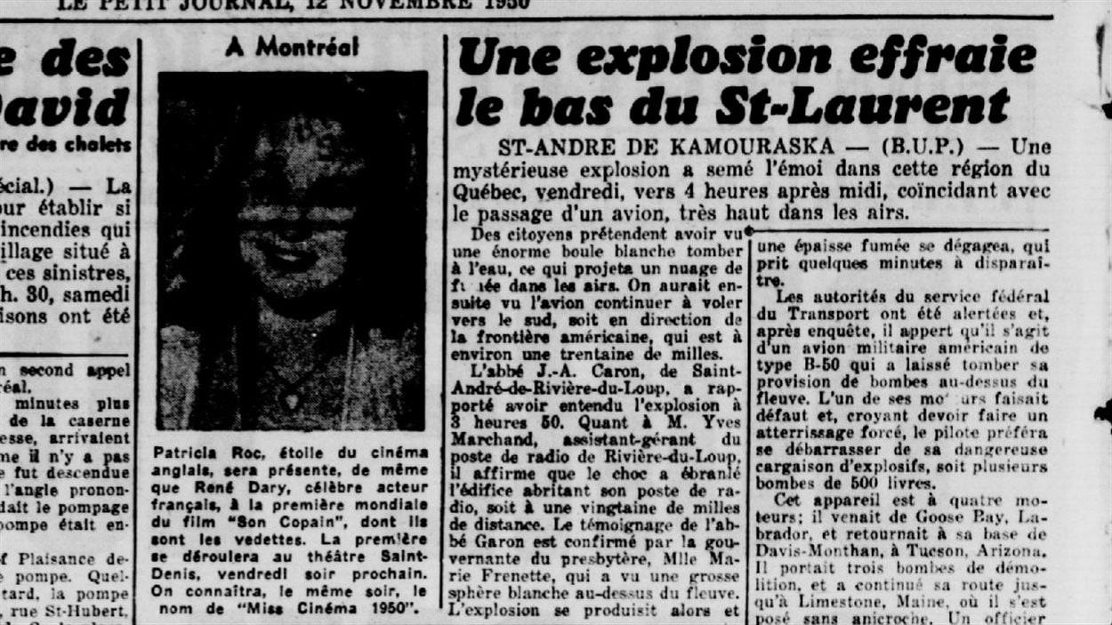 Une manchette du Petit Journal