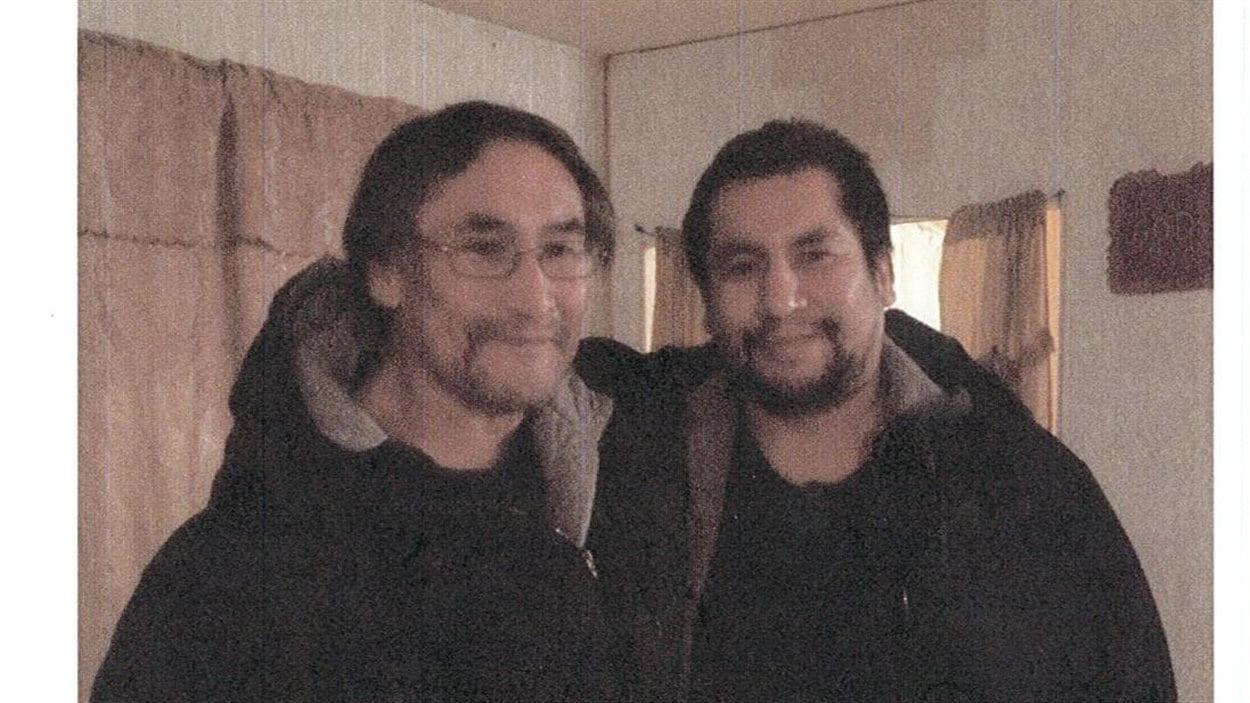 Norman Barkman et son père biologique Isaiah Monias