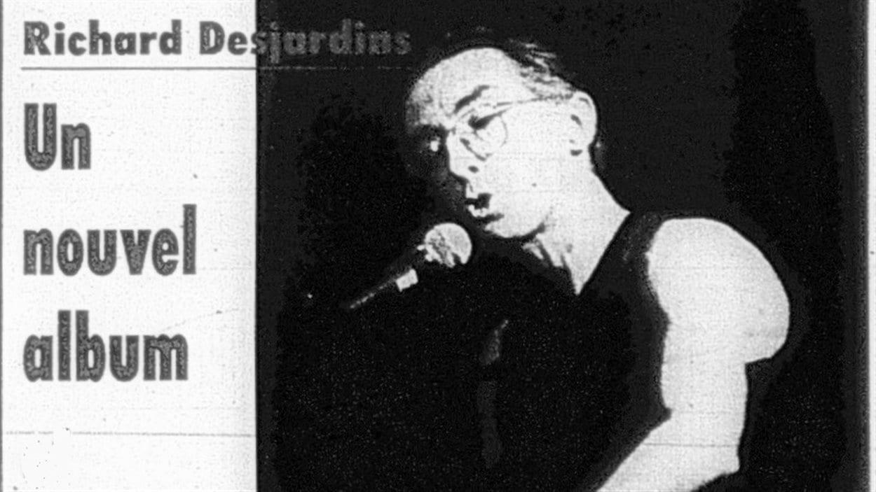 Richard Desjardins en première page du journal la Frontière de Rouyn-Noranda du 16 octobre 1990