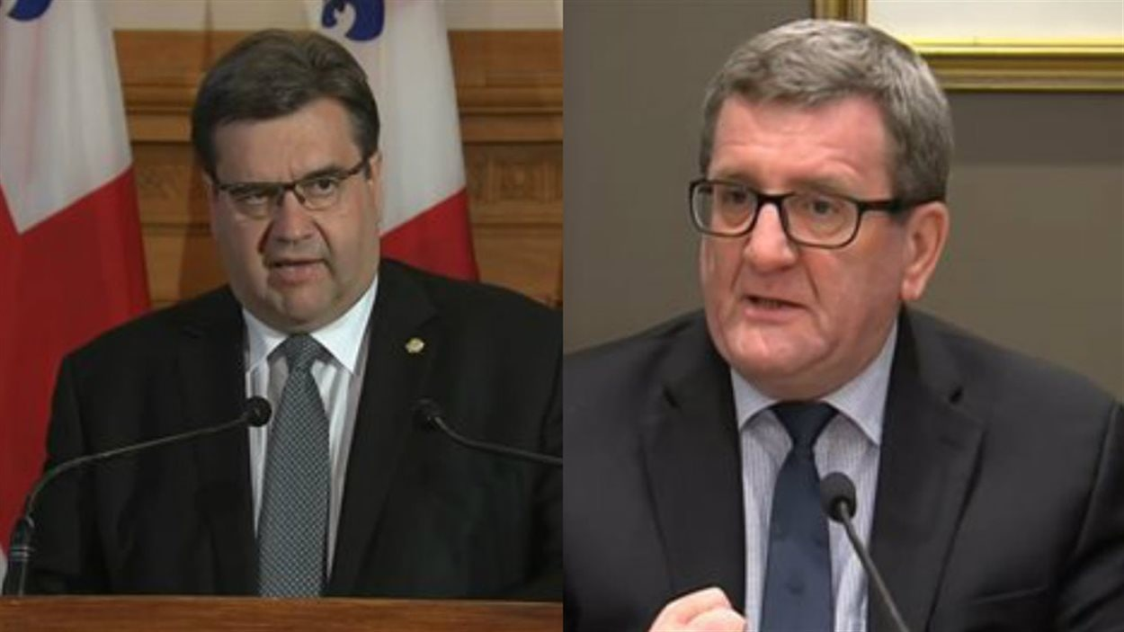 Les maires Coderre et Labeaume ont tous les deux tenu un point de presse pour parler de l'accueil des réfugiés syriens.