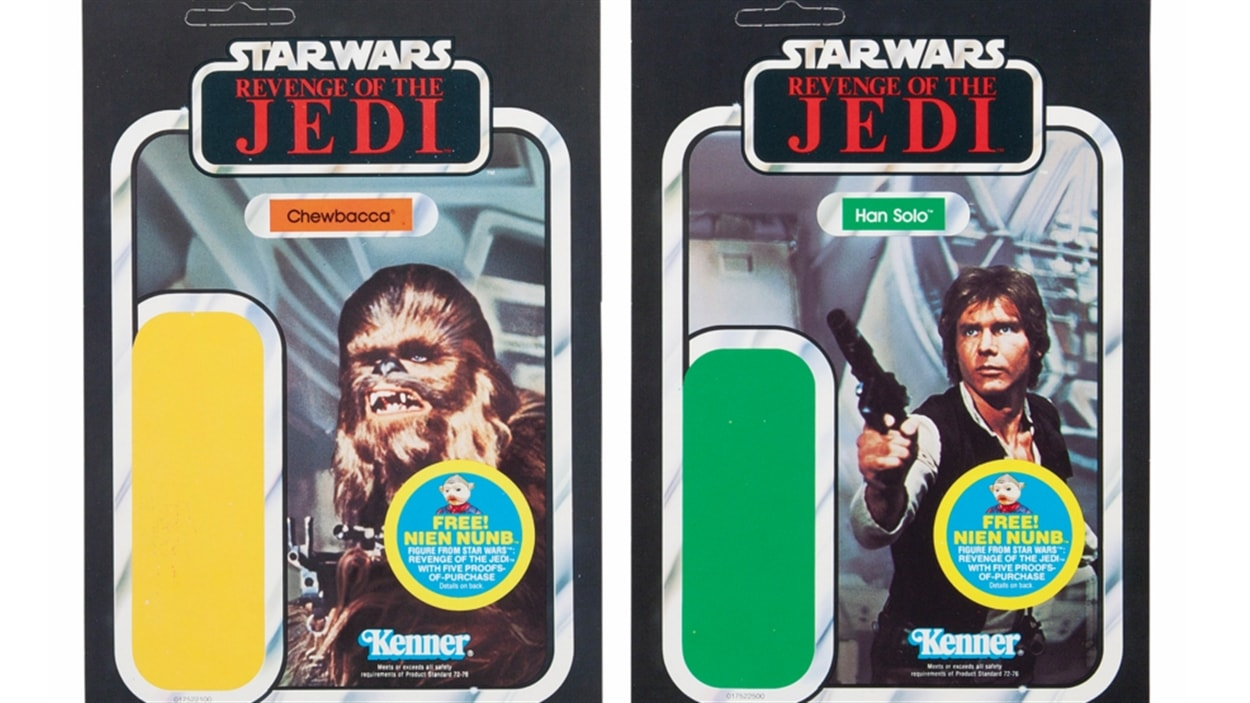 Des cartes de « Star Wars : Revenge of the Jedi »