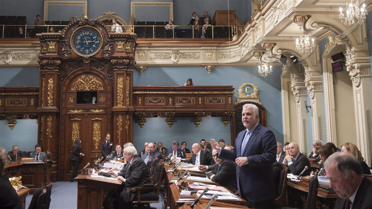 Le premier ministre Philippe Couillard, à l'Assemblée nationale du Québec