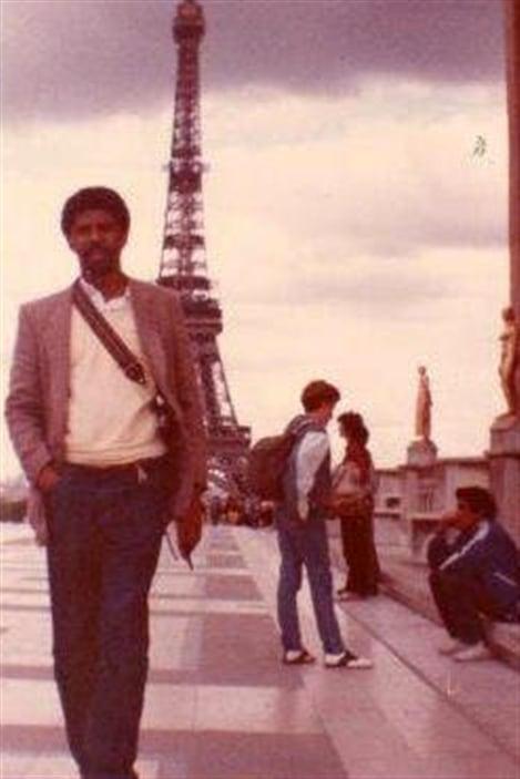 Dany Laferrière lors de son premier séjour à Paris en 1983
