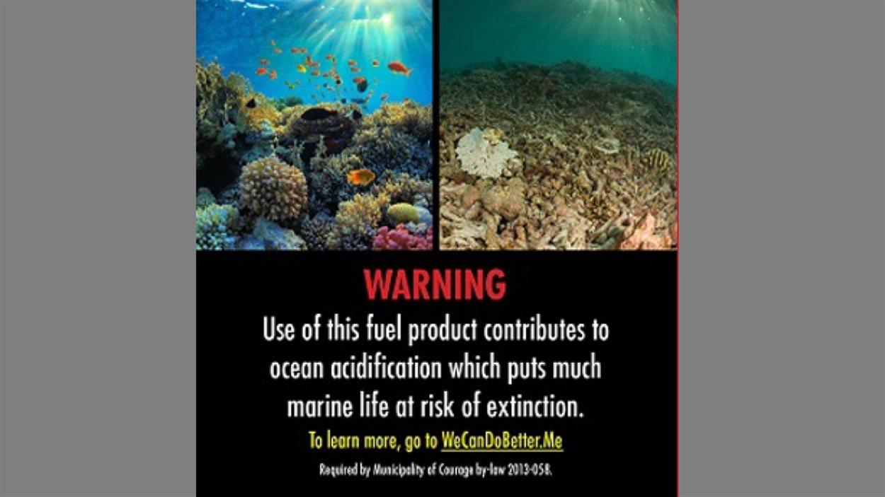 «L'utilisation de ce carburant contribue à l'acidification des océans qui met de nombreuses espèces marines en danger d'extinction.»