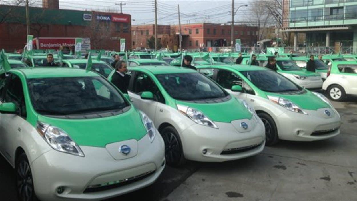 La flotte de taxis électriques Téo