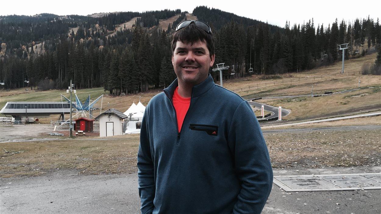 Vincent Lafontaine, le directeur des sports du centre de ski Sun Peaks, en octobre.