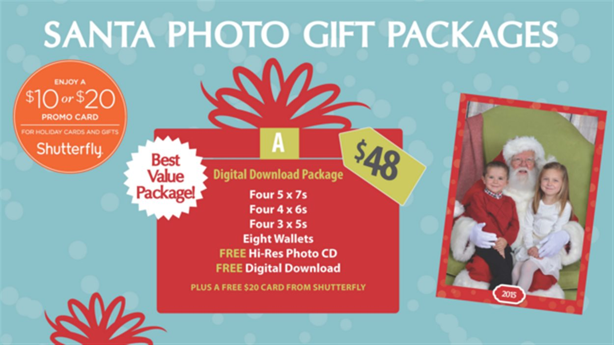 Différents forfaits de photos sont offerts, incluant celui qui est recommandé à 48$.