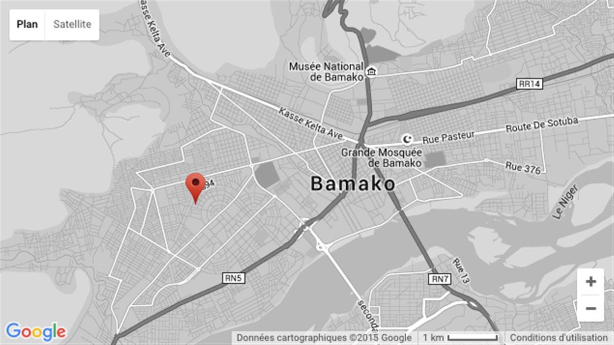Carte événements à Bamako