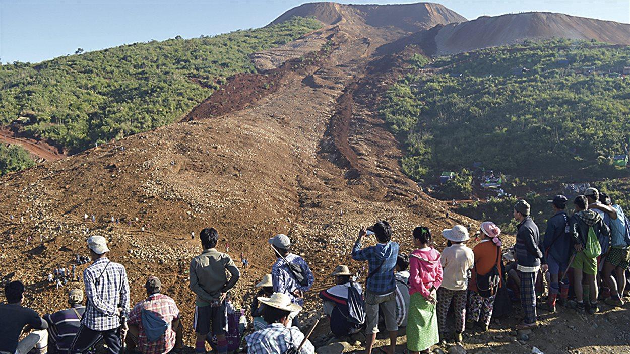 Glissement de terrain au Myanmar