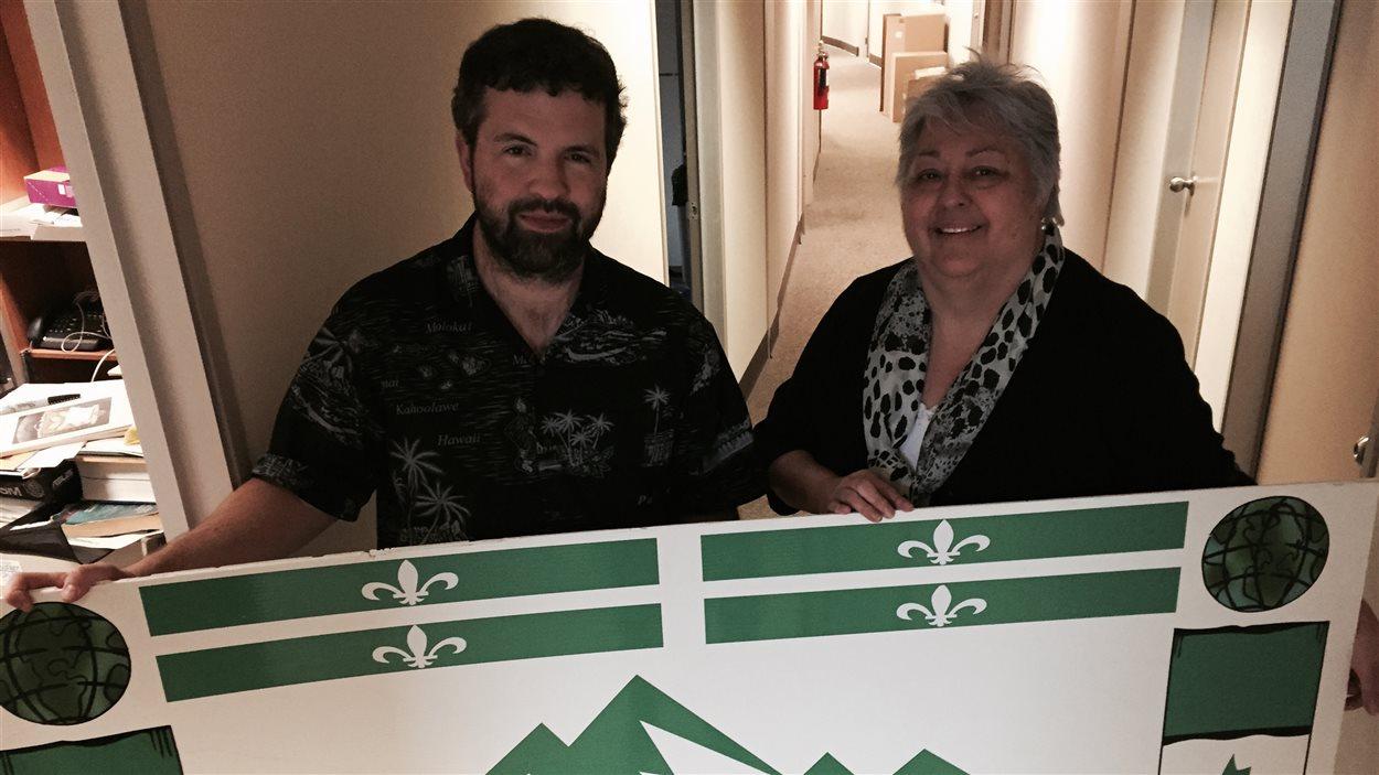 Patrick Witwicki et Danielle Dalton de l'Association des francophones et des francophiles du Nord-Ouest
