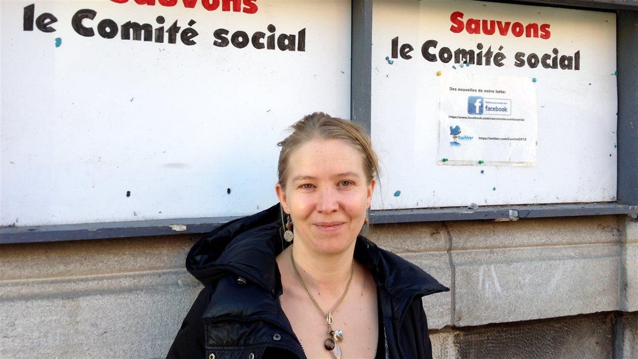 La directrice adjointe du Comité social Centre-Sud, Armandine Siess.