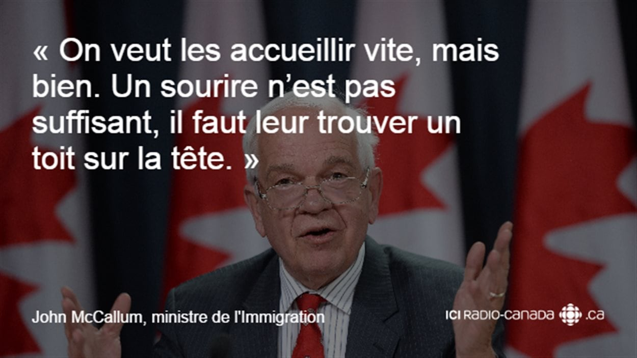 Déclaration du ministre de l'Immigration, John McCallum