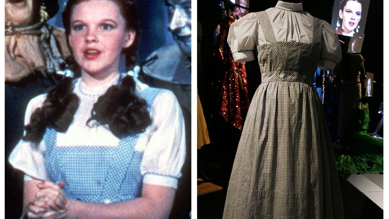 Judy Garland dans « Le magicien d'Oz » et la robe vendue aux enchères