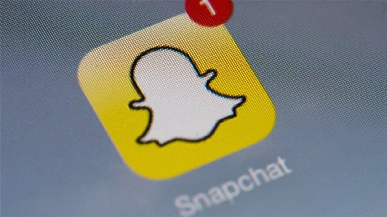 Icône de l'application Snapchat, très populaire chez les 13-17 ans qui représentent la moitié de ses utilisateurs.
