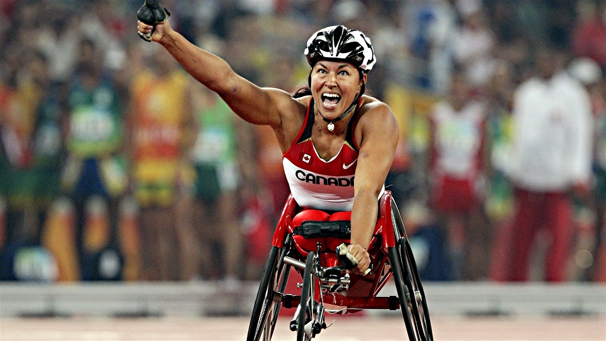 Chantal Petitclerc aux Jeux paralympiques de Pékin en 2008