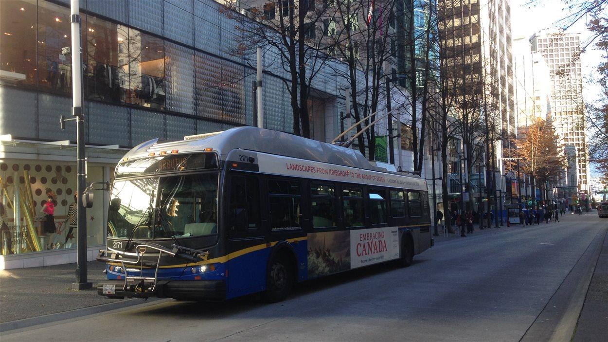 Un autobus électrifié de Vancouver.
