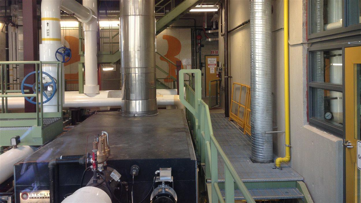 Une usine de pompage des eaux usées de Vancouver.