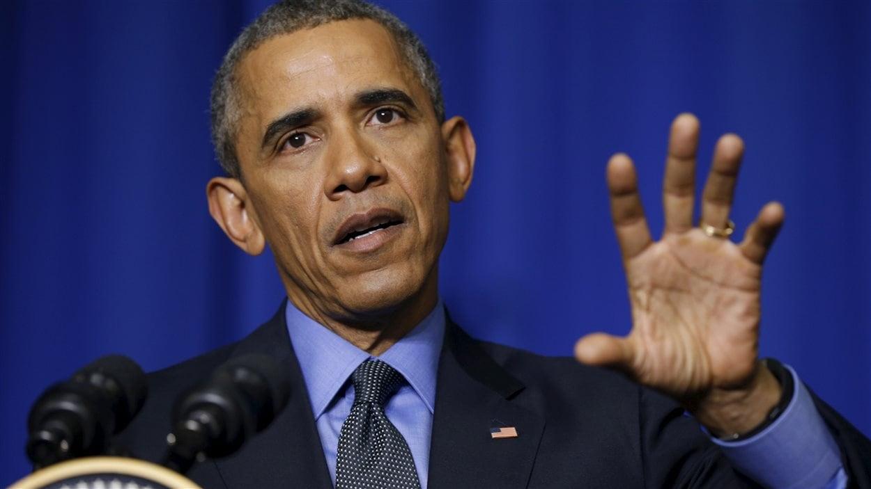 Barack Obama en point de presse à Paris