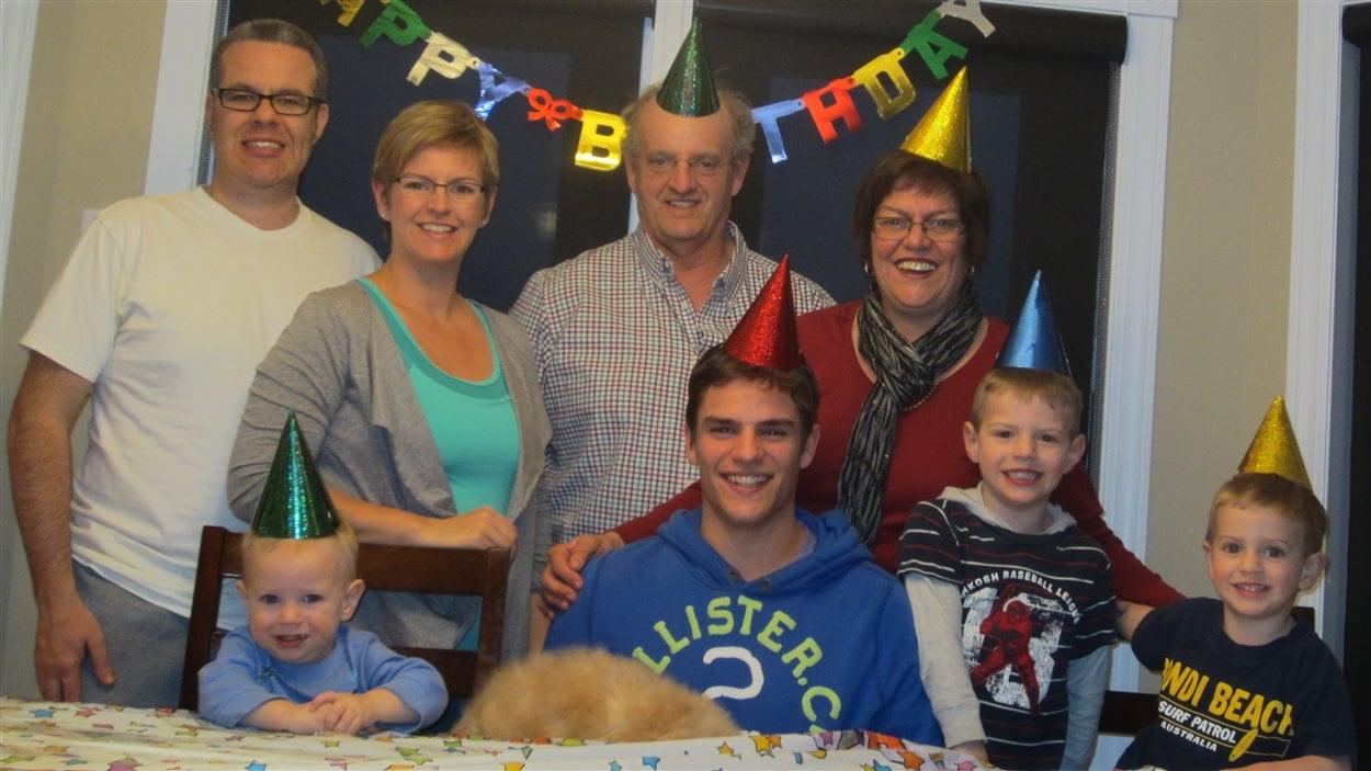 André Parker avec sa famille