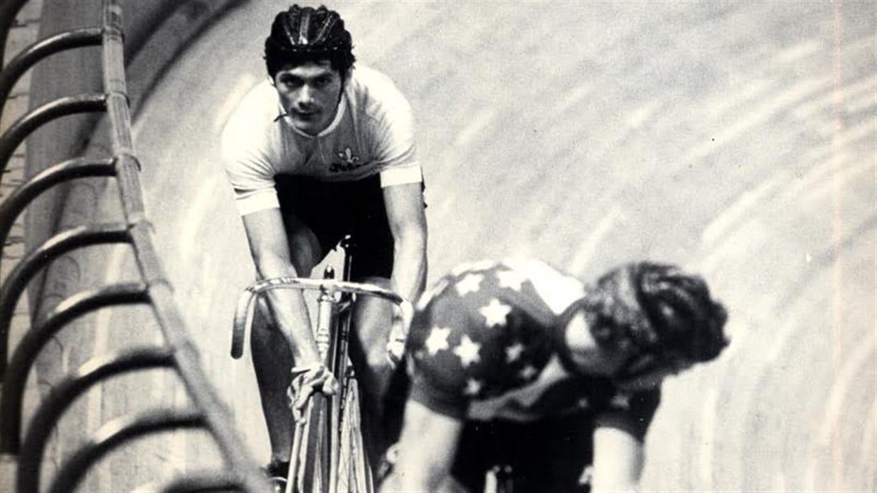 Gérard Louis Robert en pleine compétition.