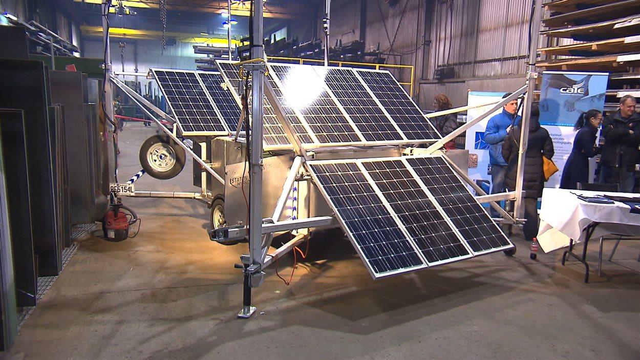 Présentation de la station mobile d'énergie renouvelable