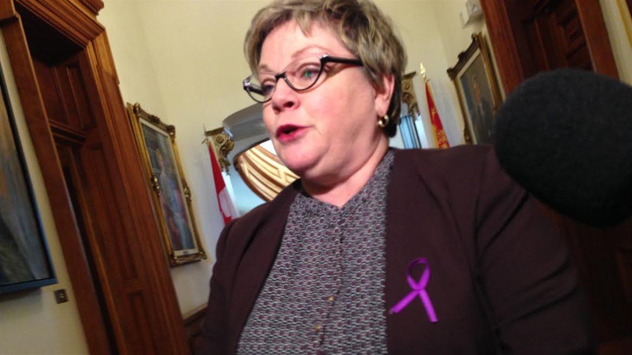 Francine Landry, ministre responsable du dossier des réfugiés au N.-B.