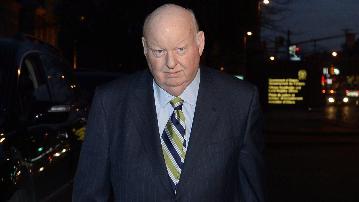 Le sénateur Mike Duffy au palais de justice d'Ottawa le 9 décembre