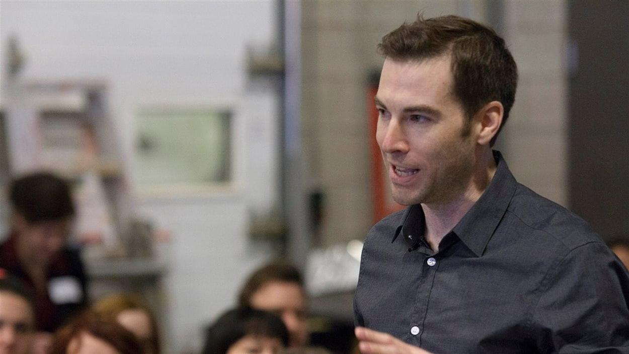 Le journaliste et chroniqueur David Desjardins