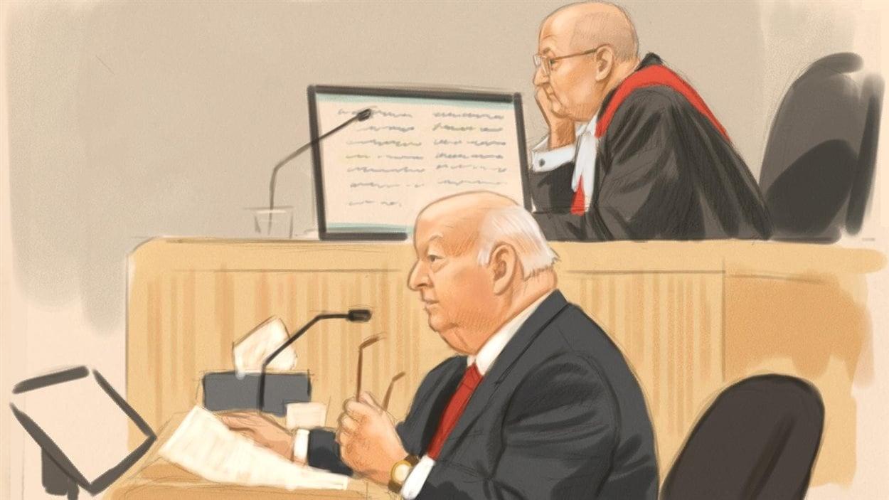 Le sénateur Mike Duffy au troisième jour de son témoignage dans le cadre de son procès pour fraude, corruption et abus de confiance.
